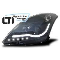 Phares de voitures 2 Feux avant Light Tube Inside pour Suzuki Swift -FZNZ- noir - ADNAuto