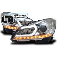 Phares de voitures 2 Feux avant Mercedes-Benz Classe C -W204- chrome - ADNAuto