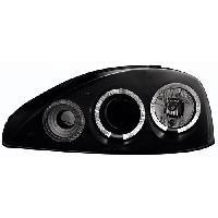 Phares de voitures 2 Optiques angel eyes adaptables pour Opel Corsa C black