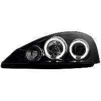 Phares de voitures 2 Phares Adaptables compatible avec Ford focus 98-01 - noir