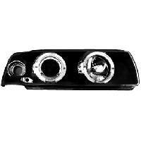 Phares de voitures 2 Phares Adaptables pour BMW E36 92-99 coupe - noir - ADNAuto