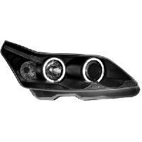 Phares de voitures 2 Phares Citroen C4 04-07 - Double Angel - Noir - regl elec