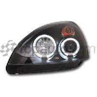 Phares de voitures 2 Phares avec Angel Eyes pour Renault Clio 2