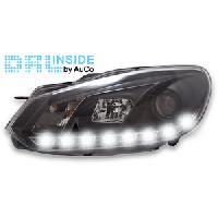 Phares de voitures 2 Phares avec Feux Diurnes pour VW Golf 5I