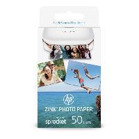 Photo - Optique HP Sprocket 2x3 - Papier Photo ZINC 5x7.6cm - Pack de 50 feuilles - Finition glacée