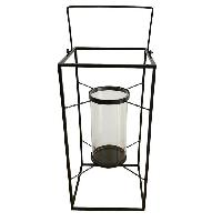 Photophore - Lanterne A Bougie HOMEA Lanterne en métal 24x24xH48 cm noir - Generique