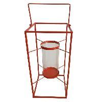 Photophore - Lanterne A Bougie HOMEA Lanterne en métal 24x24xH48 cm rouge - Generique