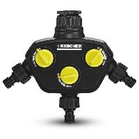 Piece Detachee Arrosage Prise robinet - 3 sorties independantes et reglables