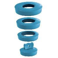 Piece Detachee Sanitaire Plomberie Bouchon universel bleu turquoise