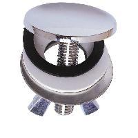 Piece Detachee Sanitaire Plomberie Cache trou - Laiton chrome - D 43 mm - Lavabo