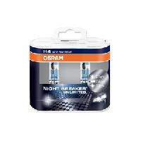 Pieces 2 ampoules H4 Osram Night Breaker Unlimited 12V 6055W - ADNAuto