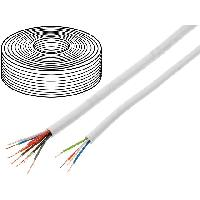 Pieces Detachees De Videosurveillance 100m Cable video surveillance - YTDY - cuivre - 6x0.5mm - blanc