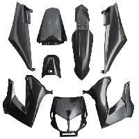 Pieces carrosserie/carenage 50 a boite adaptable derbi 50 senda 2000>2010 noir brillant (kit 8 pieces) Aucune