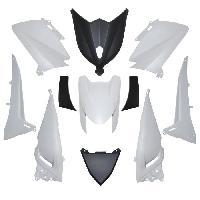 Pieces carrosserie/carenage maxiscooter adaptable yamaha 530 tmax 2012>2014 blanc brillant/noir (kit 11 pieces)  -p2r- Aucune