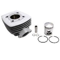 Pieces cylindre cyclo adaptable peugeot 103 air (bride+ecrou) (vendu sans joint)  -alu nikasil airsal- Aucune