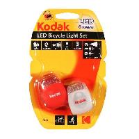 Pile - Lampe Electrique KODAK Lampe LED Kit Velo Light Set - 6 lumens