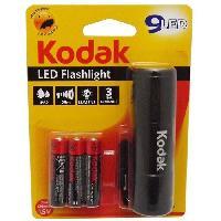 Pile - Lampe Electrique KODAK Lampe torche 9-LED flashlight + 3 Piles LR03AAA EHD - Noir