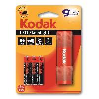 Pile - Lampe Electrique KODAK Lampe torche 9-LED flashlight + 3 Piles LR03AAA EHD - Rouge
