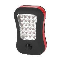 Pile - Lampe Electrique Torche plate 2 fonctions 24 + 4 LED noire