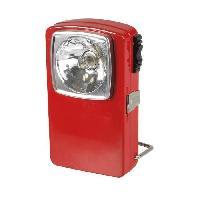 Pile - Lampe Electrique Torche plate 3 LED metal rouge
