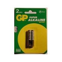 Piles 2 Piles 1.5V AAAA LR61 GP25A Alcaline Gp Batteries