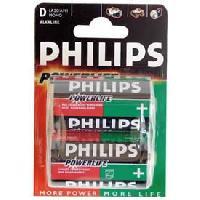 Piles 2 Piles 1.5V D LR20 alcaline - Philips