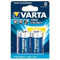 Piles 2 Piles 1.5V LR14 Alkaline C - High Energy Varta