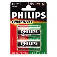Piles 2 Piles 1.5V LR14 alcaline Philips