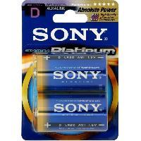 Piles 2 Piles LR20 Platinum SONY - ADNAuto