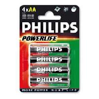 Piles 4 Piles 1.5V AA LR06 alcaline - Philips