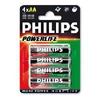 Piles 4 Piles 1.5V AA LR06 alcaline Philips