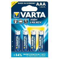 Piles 4 Piles 1.5V LR03 AAA Alkaline Varta