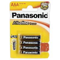 Piles 4 Piles 1.5V LR3 AAA Alcaline Panasonic