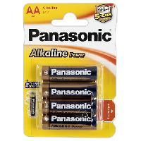 Piles 4 piles 1.5V LR6 AA alkaline Panasonic