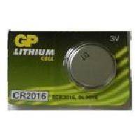 Piles 5 piles 3V CR2016 Lithium - 20 x 1.6mm