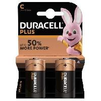 Piles DURACELL Lot 2 piles Plus Power C