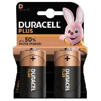 Piles DURACELL Pile Plus Power D X2