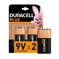 Piles Duracell - NOUVEAU Piles alcalines 9V Plus. 6LR61. paquet de 2