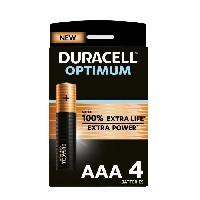 Piles Duracell - NOUVEAU Piles alcalines AAA Optimum. 1.5 V LR03 MX2400. paquet de 4