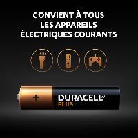 Piles Duracell - NOUVEAU Piles alcalines AAA Plus. 1.5 V LR03 MN2400. paquet de 12