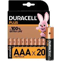 Piles Duracell - NOUVEAU Piles alcalines AAA Plus. 1.5 V LR03 MN2400. paquet de 20