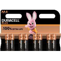 Piles Duracell - NOUVEAU Piles alcalines AA Plus. 1.5 V LR6 MN1500. paquet de 8