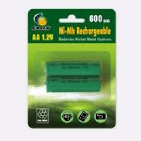 Piles GALIX Lot de 2 piles rechargeables Ni-Mh LR06/AA - 1.2 Volts - 600 mAh