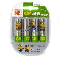 Piles GP Piles rechargeables AA 1000 mAh Minions