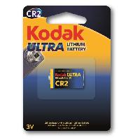 Piles KODAK Piles Ultra lithium CR2 3V batterie - Vendu a l'unite
