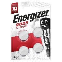 Piles Pile bouton Energizer Lithium 2025. pack de4