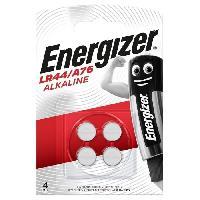 Piles Pile bouton alcaline Energizer LR44/A76. Pack de 4