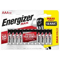 Piles Piles Alcalines Energizer Max AAA/LR3. pack de 12