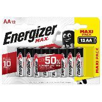 Piles Piles Alcalines Energizer Max AA/LR6. pack de 12