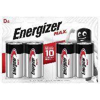 Piles Piles Alcalines Energizer Max D/LR20. pack de 4
